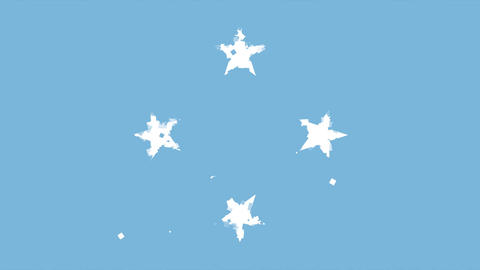 celebratory animated background of flag of Federated States of Micronesia appear Animation