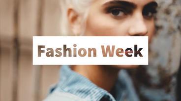 Fashion Week After Effectsテンプレート