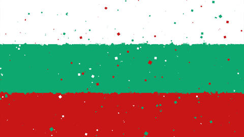 celebratory animated background of flag of Bulgaria appear from fireworks Animation