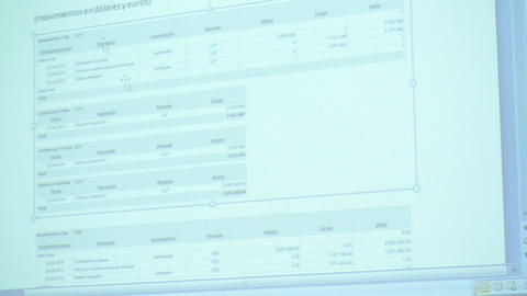 Projection screen in meeting Footage