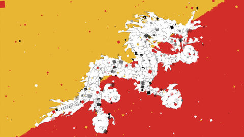 celebratory animated background of flag of Bhutan appear from fireworks Animation