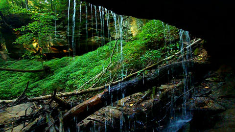 Shades State Park Maidenhair Falls Footage