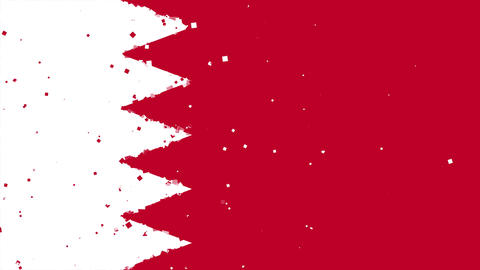 celebratory animated background of flag of Bahrain appear from fireworks Animation