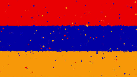 celebratory animated background of flag of Armenia appear from fireworks Animation