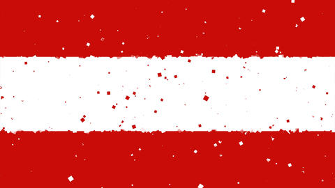 celebratory animated background of flag of Austria appear from fireworks Animation
