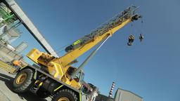 Parking construction crane Live Action