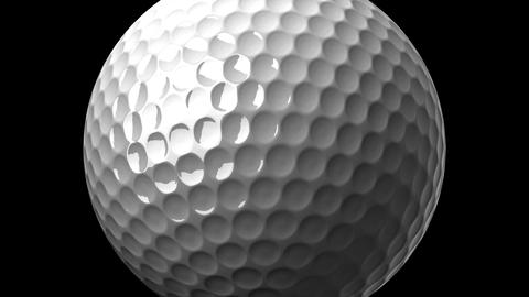 Golf Ball On Black Background Animation