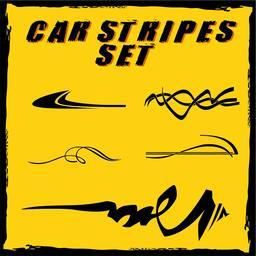 Car vinyl stripes set ベクター