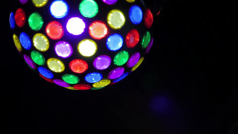 night club Party lights disco ball. colorful dance floor... Stock Video Footage