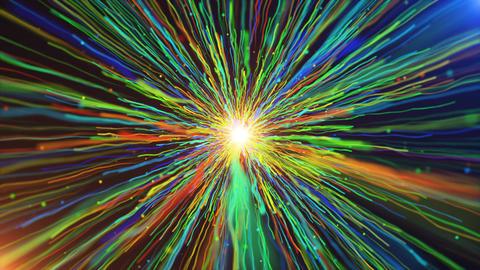 Colorful Line Streaks Burst 画像