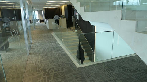 Climbing office stairs Footage