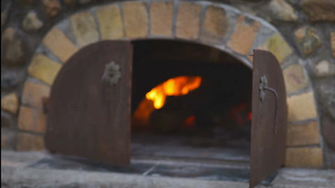 Wood Fire Oven Footage