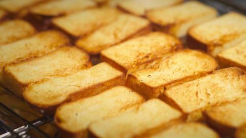 Roasted Toast Bread Footage