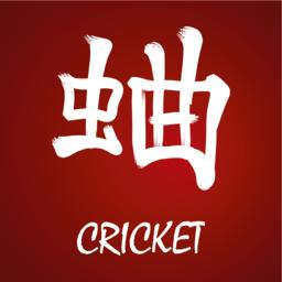 Japanese kanji - Cricket Vector