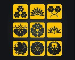 Japan culture decorative ornaments Vector
