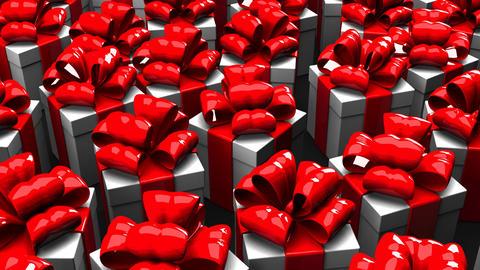 Gift Boxes On Black Background Animation