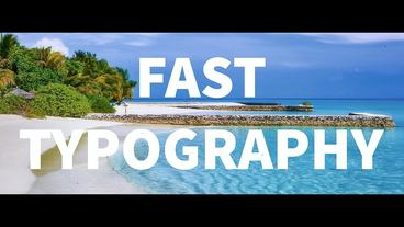 Fast Typography After Effects Template