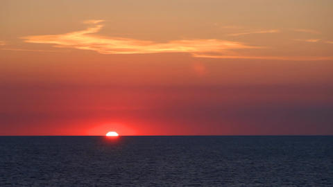 Sunset on the calm sea Image