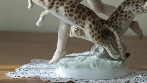 China dancer figurine Footage