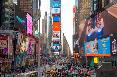 Daytime Times Square in New York City. Editorial Use Only Foto
