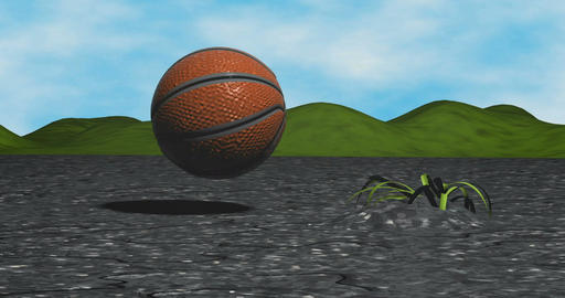 basketball ball Filmmaterial