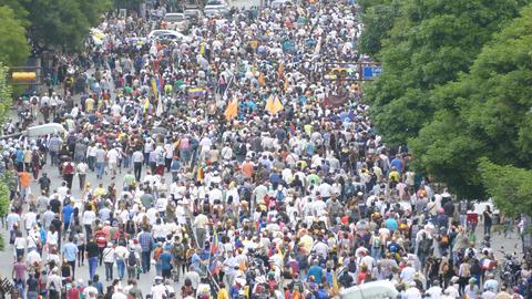 Protest for freedom in Venezuela, Against communism, Against socialism Live Action