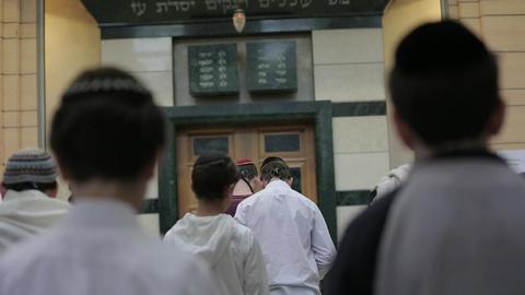 Children in synagogue Footage