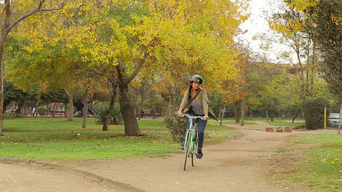 Bicycle ride in park Footage