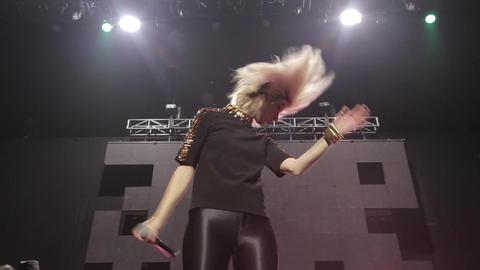Pop singer dance on stage Footage
