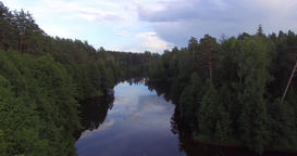 A river in the woods Image