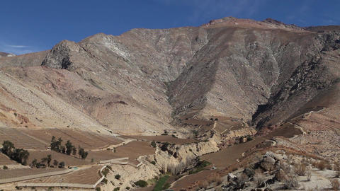 Mountains in Elqui Valley Footage