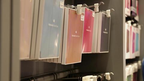 iPad covers on display Footage