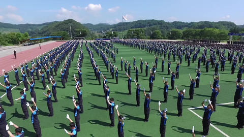 Republic of Korea Central Police Academy training video 2 Footage