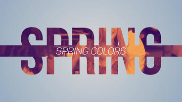 Spring Colors After Effects Templates