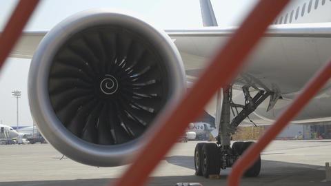 Airplane engine Footage