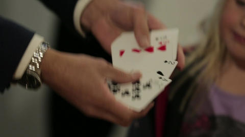 Shuffling cards Stock Video Footage