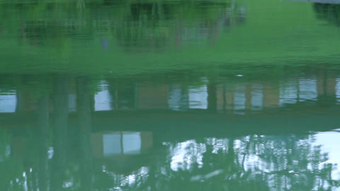 Country house water reflection Footage