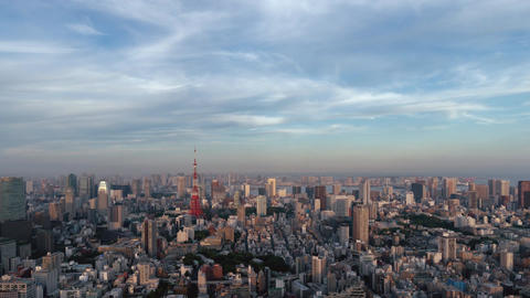 Landscape of Tokyo that will be night from evening Image