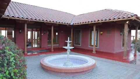 Spanish villa fountain Live Action