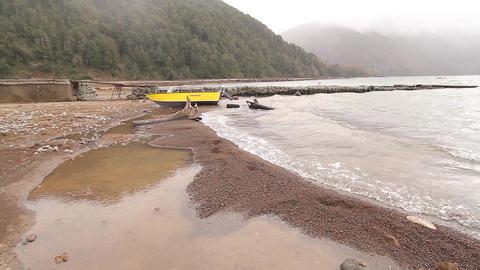 Sea shore boat Footage