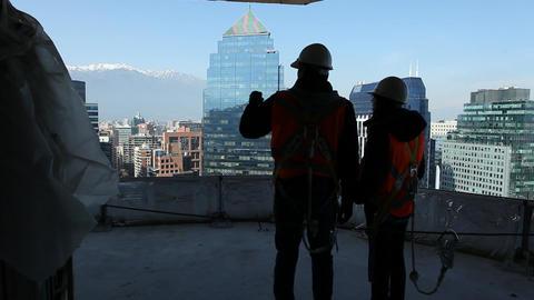 Building workers Footage