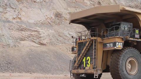 Mining dump trucks Footage