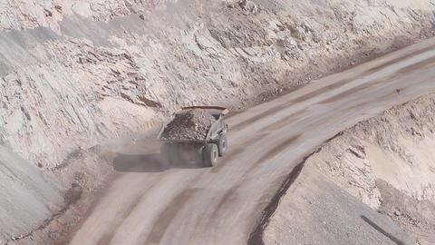 Trucks in mine Footage