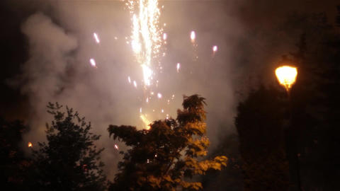 Fireworks in the sky celebrating lunar new year 17 Footage