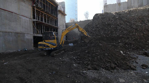 Tractor on construction site Footage