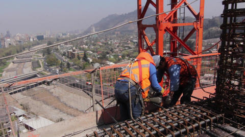 Construction workers Footage