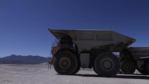 Mining truck in desert Footage