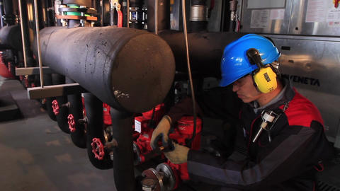 Engineer on machine Footage