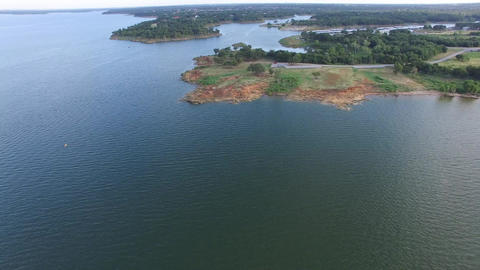 Aerial over Lake Grapevine in Texas 画像