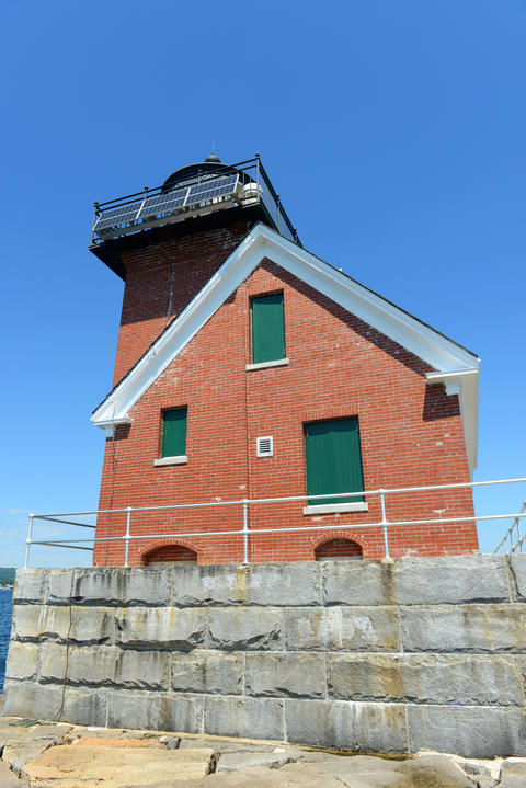 Rockland Harbor Breakwater Lighthouse, Maine, USA Foto